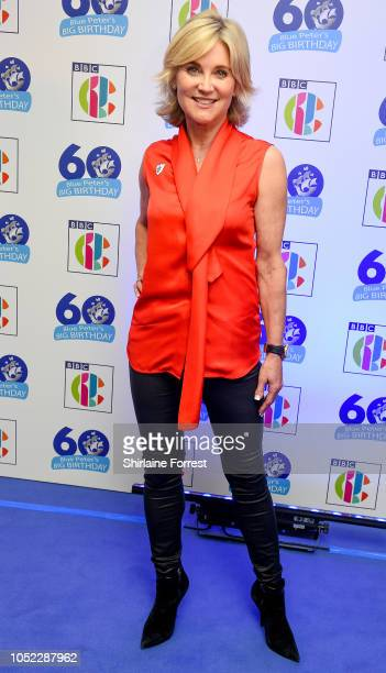 Anthea Turner attends the 'Blue Peter Big Birthday' celebration at BBC Philharmonic Studio on October 16 2018 in Manchester England