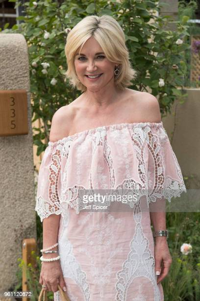 Anthea Turner attends the Chelsea Flower Show 2018 on May 21 2018 in London England