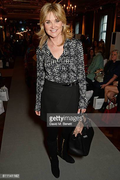 Anthea Turner attends the first Fifty Plus Fashion Week hosted by JD Williams at Cafe Royal on February 18, 2016 in London, England.