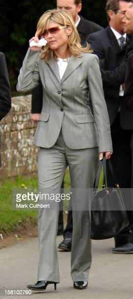 Anthea Turner Attends The Funeral Of Caron Keating At Herver Castle In Kent
