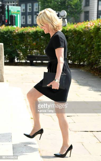 Anthea Turner attends the funeral of Dale Winton at the Old Church 1 Marylebone Road on May 22 2018 in London England
