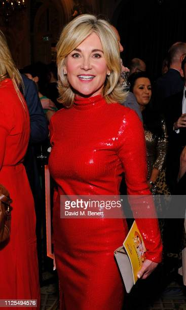 Anthea Turner attends the Gala Night after party for 9 To 5 The Musical at The Savoy Hotel on February 17 2019 in London England