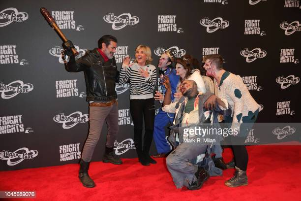 Anthea Turner attends the launch of Thorpe Park Resort's annual Fright Nights on October 4 2018 in Chertsey England