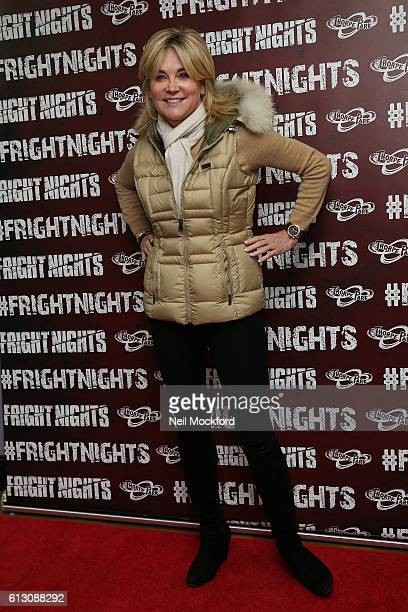 Anthea Turner attends the launch of Thorpe Park's Fright Nights at Thorpe Park on October 6 2016 in Chertsey England
