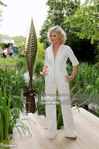 Anthea Turner attends 'The Savills and David Harber Garden' which celebrates the environmental benefit and beauty of trees plants and gardens in...