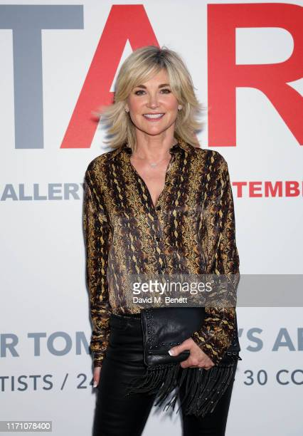 Anthea Turner attends the START Art Fair preview evening at The Saatchi Gallery on September 25 2019 in London England