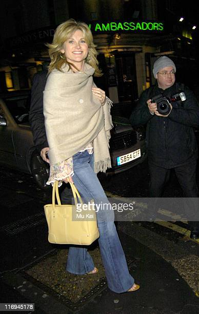 Anthea Turner during Anthea Turner Sighting at the Ivy Restaurant in London November 8 2005 at The Ivy Restuarant in London Great Britain