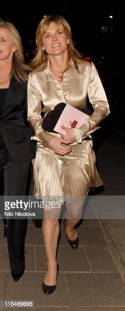 Anthea Turner during Anthea Turner Sighting in Berkeley Square March 27 2007 in London Great Britain