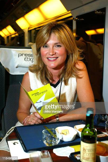 Anthea Turner during Eurostar Launches Faster Service Between London And Paris at Waterloo Station in London Great Britain