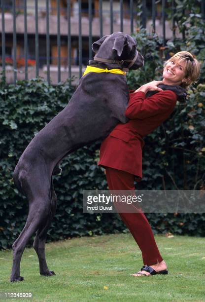 Anthea Turner during Take Your Dog To Work Day in aid of Blue Cross at London in London Great Britain