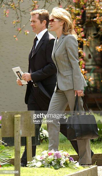 Anthea Turner Grant Bovey Attend The Funeral Of Caron Keating At Herver Castle In Kent