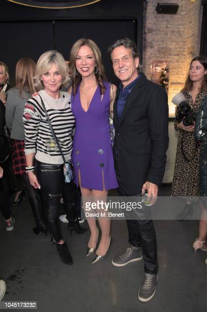 Anthea Turner Heather Kerzner and Stephen Webster attend the 21st Century Women VIP preview at Unit London Mayfair London on October 3 2018 in London...