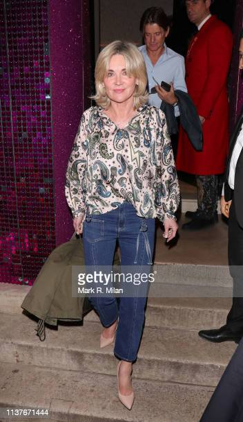 Anthea Turner is seen at Annabel's club on March 22 2019 in London England