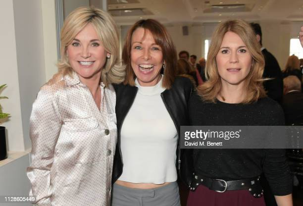 Anthea Turner Kay Burley and Harriet Scott attend Turn The Tables 2019 hosted by Tania Bryer and James Landale in aid of Cancer Research UK at BAFTA...