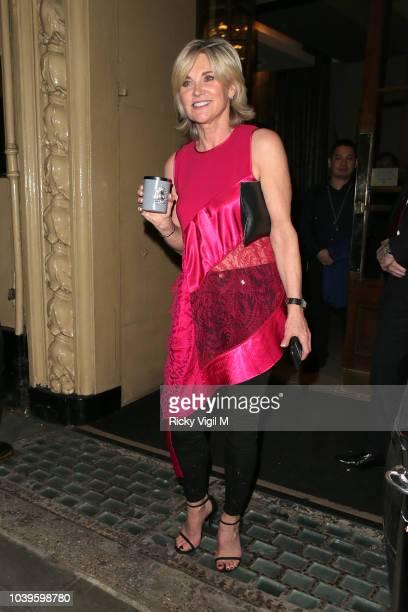 Anthea Turner seen attending Best Heroes at Waldorf Hilton on September 24 2018 in London England