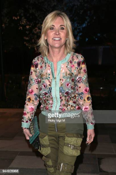 Anthea Turner seen attending Soho House White City launch party on April 11 2018 in London England
