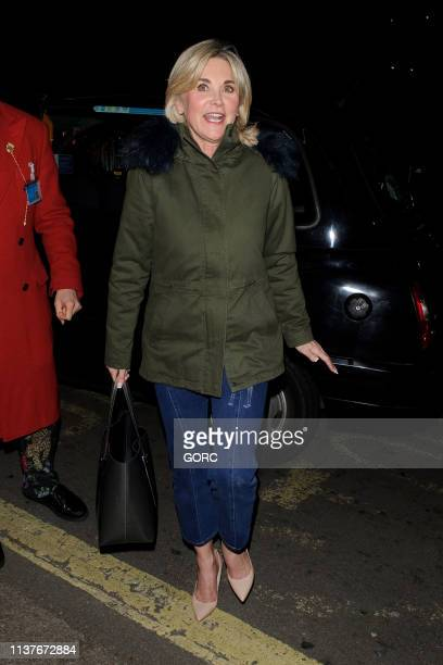 Anthea Turner seen leaving Annabels private club Mayfair on March 22 2019 in London England