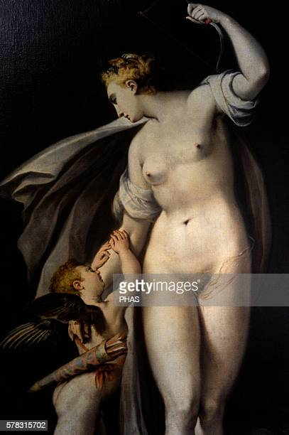Anthonie Blocklandt van Montfoort Dutch painter Aphrodite disarms Eros Nationale Gallery Prague Czech Republic