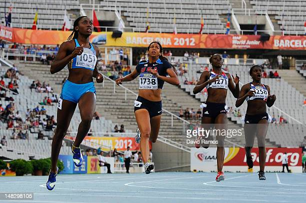 Anthonique Strachan of Bahamas wins the Women's 200 metres Final on the day four of the 14th IAAF World Junior Championships at Estadi Olimpic Lluis...