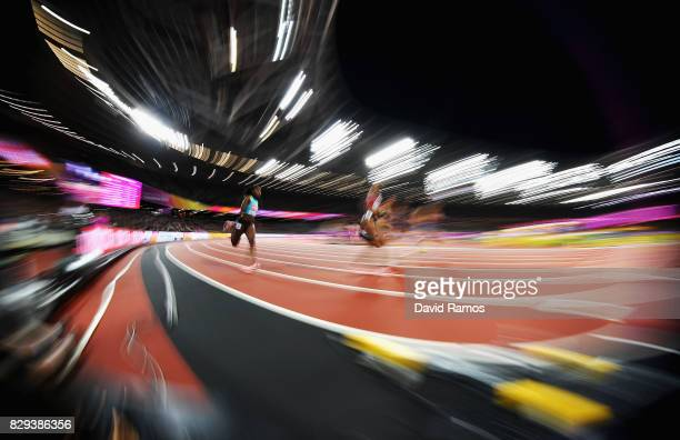 Anthonique Strachan of the Bahamas competes in the womens 200 metres semifinals during day seven of the 16th IAAF World Athletics Championships...