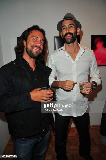 Anthony Adamo and Douglas Ridloff attend Lady by DOUGLAS FRIEDMAN exhibit hosted by Brian Wolk and Claude Morais at Ruffian Gallery NYC on April 23...