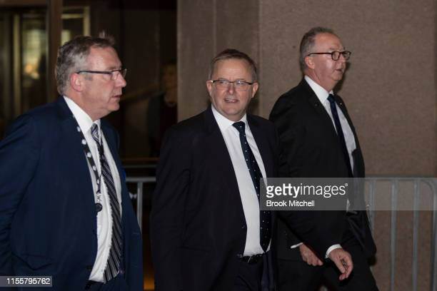 Anthony Albanese arrives at the Sydney Opera House on June 14 2019 in Sydney Australia Robert James Lee Hawke AC also known as Bob Hawke was Prime...