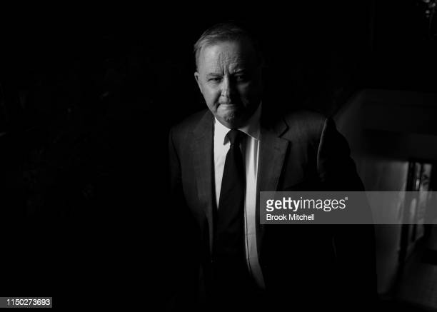 Anthony Albanese arrives at the Union Hall Hotel in Balmain for a press conference on May 19 2019 in Sydney Australia Albanese announced his plans to...
