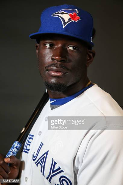 Anthony Alford of the Toronto Blue Jays poses for a portait during a MLB photo day at Florida Auto Exchange Stadium on February 21 2017 in Dunedin...