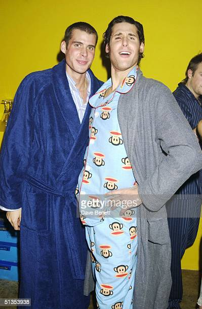 Anthony and David De Rothschild at a pyjama party held to raise funds for Everyman The Institute of Cancer Research's male cancer awareness campaign...