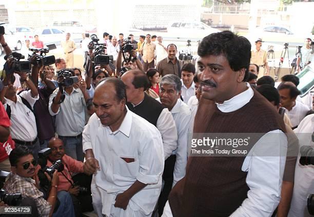 K Anthony and Maharashtra CM Ashok Chavan at the CLP meet in Mumbai on Saturday October 24 2009