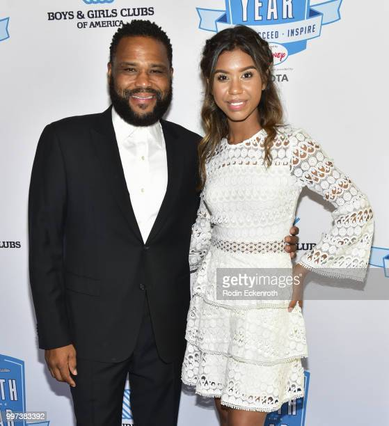 Anthony Anderson and Aliyah Moulden attend the Boys and Girls Clubs of America Youth of the Year Gala at The Beverly Hilton Hotel on July 12 2018 in...