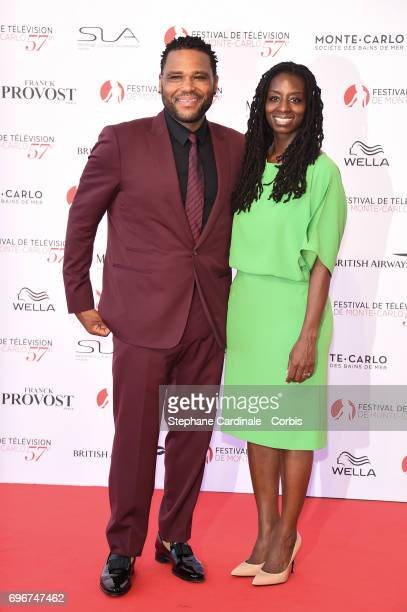 Anthony Anderson and Alvina Stewart attend the 57th Monte Carlo TV Festival Opening Ceremony on June 16 2017 in MonteCarlo Monaco