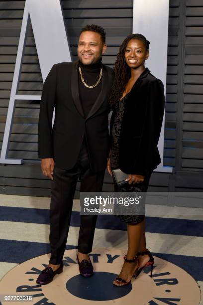 Anthony Anderson and Alvina Stewart attends the 2018 Vanity Fair Oscar Party Hosted By Radhika Jones Arrivals at Wallis Annenberg Center for the...