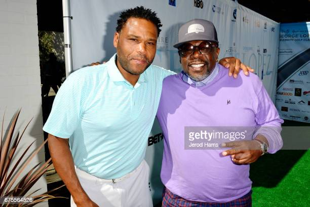 Anthony Anderson and Cedric The Entertainer attend the 10th Annual George Lopez Celebrity Golf Classic at Lakeside Country Club on May 1 2017 in...
