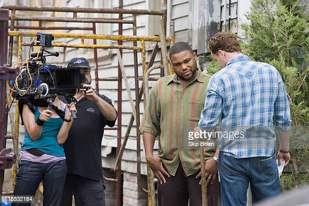 Anthony Anderson and Cole Hauser during Anthony Anderson and Cole Hauser on Location for KVille April 1 2007 at MidCity in New Orleans Louisiana...