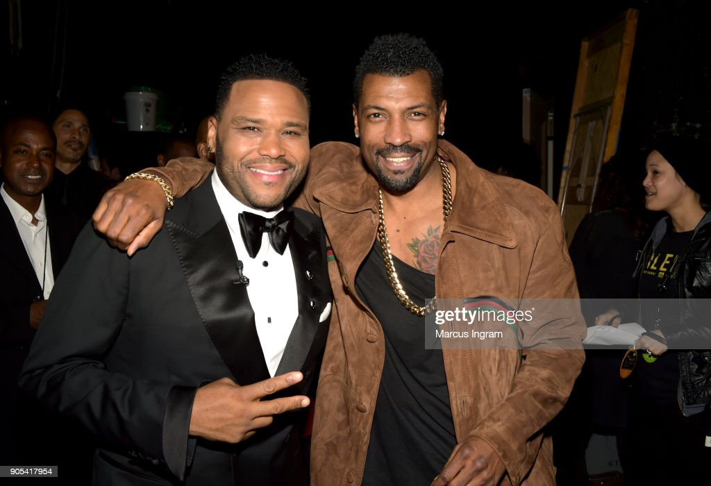 Anthony Anderson (L) and Deon Cole attend the 49th NAACP Image Awards at Pasadena Civic Auditorium on January 15, 2018 in Pasadena, California.