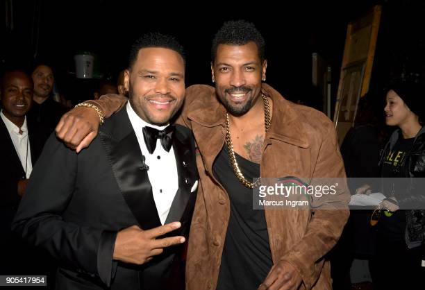 Anthony Anderson and Deon Cole attend the 49th NAACP Image Awards at Pasadena Civic Auditorium on January 15 2018 in Pasadena California