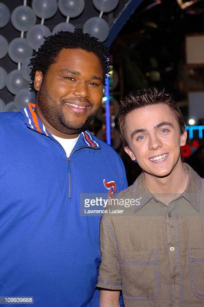 Anthony Anderson and Frankie Muniz during Anthony Anderson and Frankie Muniz Host MTV TRL at MTV TRL Studios in New York City New York United States