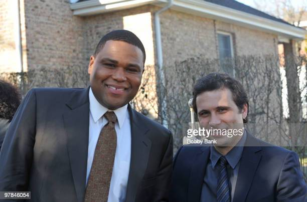 Anthony Anderson and Jeremy Sisto on on location for Law Order on March 18 2010 in New York City