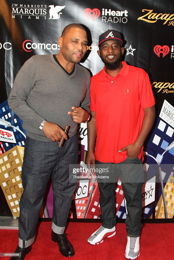 Anthony Anderson and Karlous Miller at JW Marriott Marquis on December 28, 2014 in Miami, Florida.
