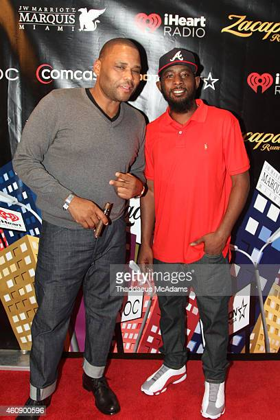 Anthony Anderson and Karlous Miller at JW Marriott Marquis on December 28 2014 in Miami Florida