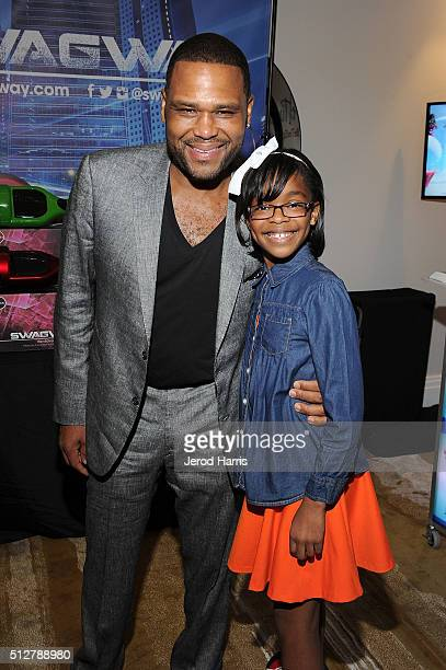 Anthony Anderson and Marsai Martin attend the GBK LifeCell 2016 Pre Oscar Lounge at The London West Hollywood on February 27 2016 in West Hollywood...