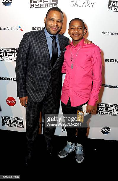 Anthony Anderson and Nathan Anderson attend the official 2014 American Music Awards after party at the at Nokia Theatre LA Live on November 23 2014...