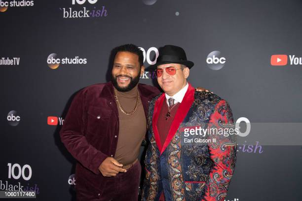 Anthony Anderson and Omar Baker attend Blackish 100th Episode Celebration at Walt Disney Studios on November 10 2018 in Burbank California