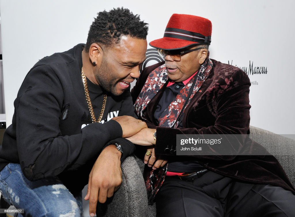 Anthony Anderson and Quincy Jones attend Buscemi x Quincy Exclusive Launch at Neiman Marcus Beverly Hills on December 16, 2017 in Beverly Hills, California.