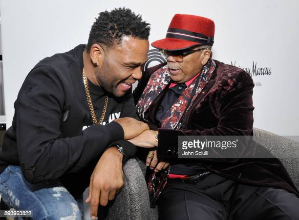Anthony Anderson and Quincy Jones attend Buscemi x Quincy Exclusive Launch at Neiman Marcus Beverly Hills on December 16 2017 in Beverly Hills...