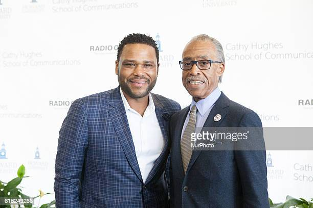 Anthony Anderson and Rev Al Sharpton In the Blackburn Center Ballroom on the campus of Howard University in Washington DC USA on 25 October 2016 Ms...