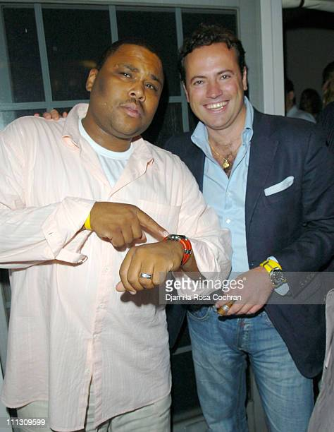 Anthony Anderson and Sebastiano Di Bari during Pirelli Watches and Hamptons Magazine Host the Golf Classic Party at Cain in Southampton, NY, United...
