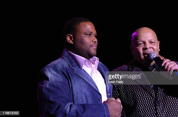 Anthony Anderson and Spider perform during the Motown Legends CasinoNet Masonic Temple Detroit Michigan