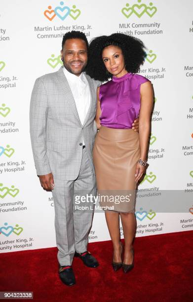 Anthony Anderson and Susan Kelechi Watson attend the MLK Community Health Foundation's Sharing The Dream Luncheon at Dorothy Chandler Pavilion on...